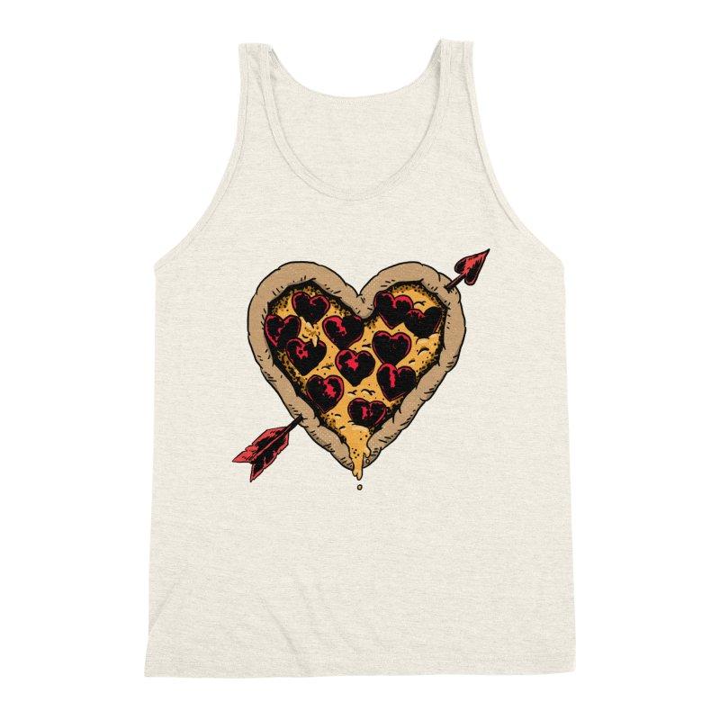 Pizza Love Men's Triblend Tank by Iheartjlp