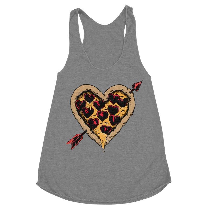 Pizza Love Women's Racerback Triblend Tank by Iheartjlp