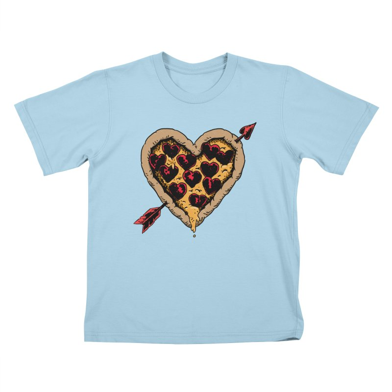 Pizza Love Kids T-Shirt by Iheartjlp