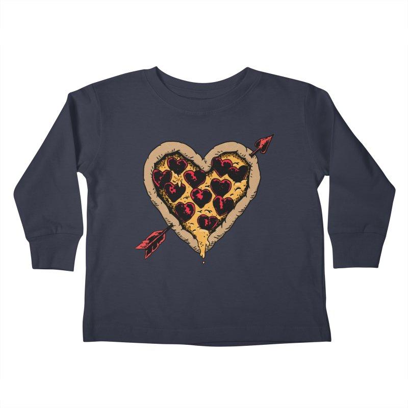 Pizza Love Kids Toddler Longsleeve T-Shirt by Iheartjlp