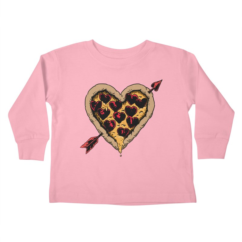 Pizza Love Kids Toddler Longsleeve T-Shirt by Iheartjlp