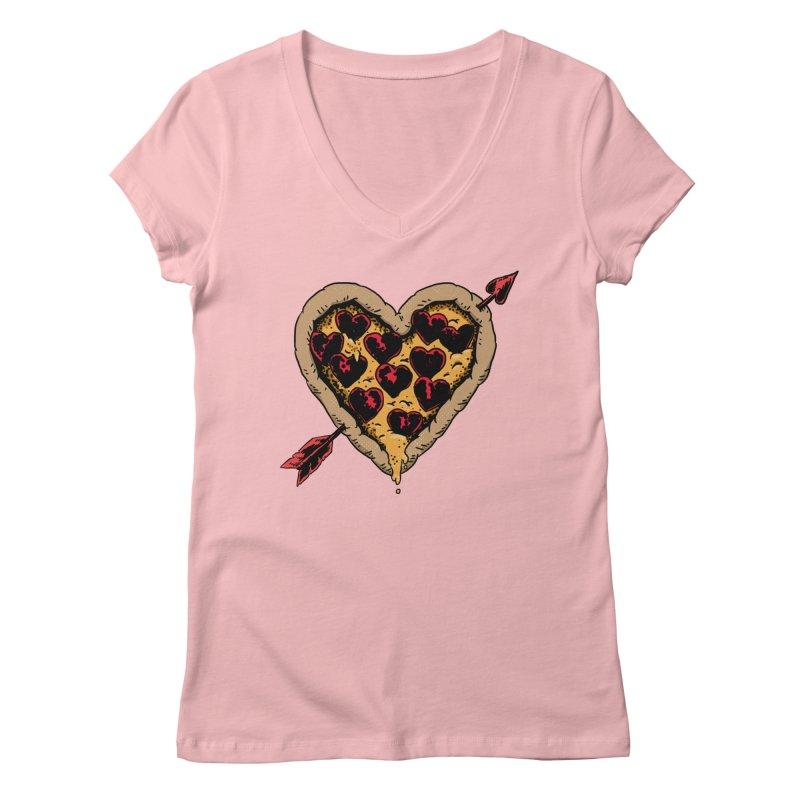 Pizza Love Women's V-Neck by Iheartjlp