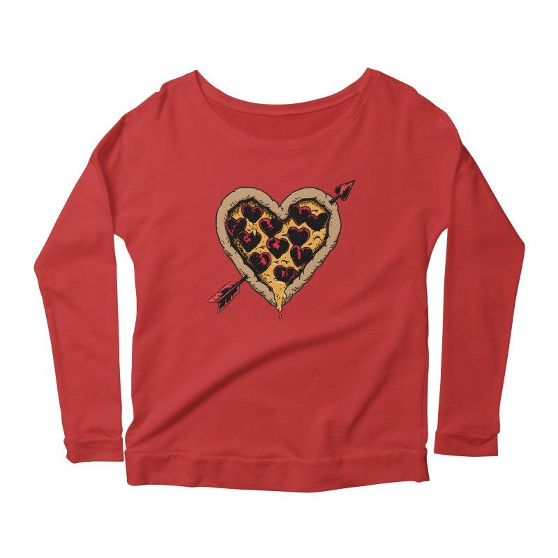 Pizza Love Women's Scoop Neck Longsleeve T-Shirt by Iheartjlp
