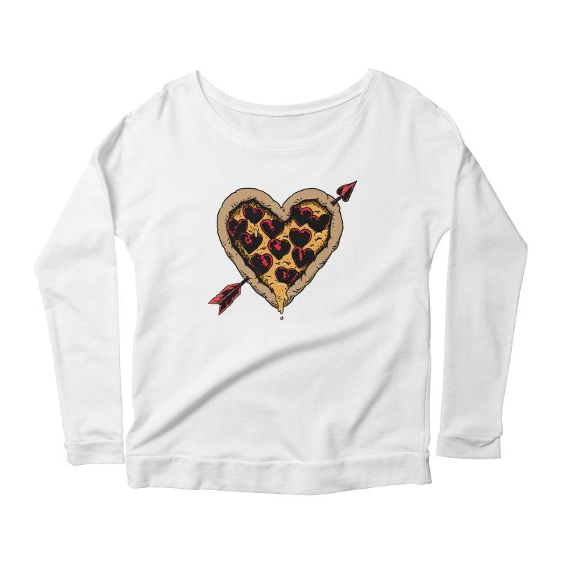 Pizza Love Women's Longsleeve Scoopneck  by Iheartjlp