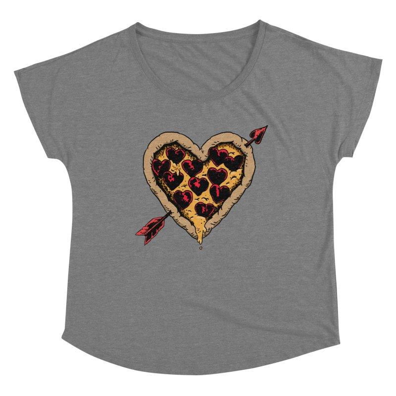 Pizza Love Women's Dolman Scoop Neck by Iheartjlp