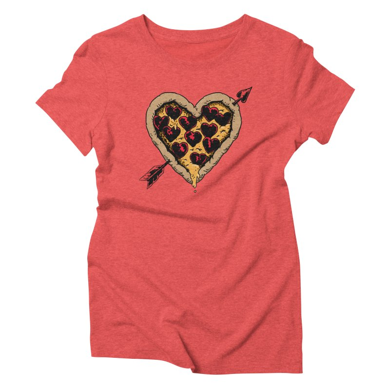 Pizza Love Women's Triblend T-shirt by Iheartjlp
