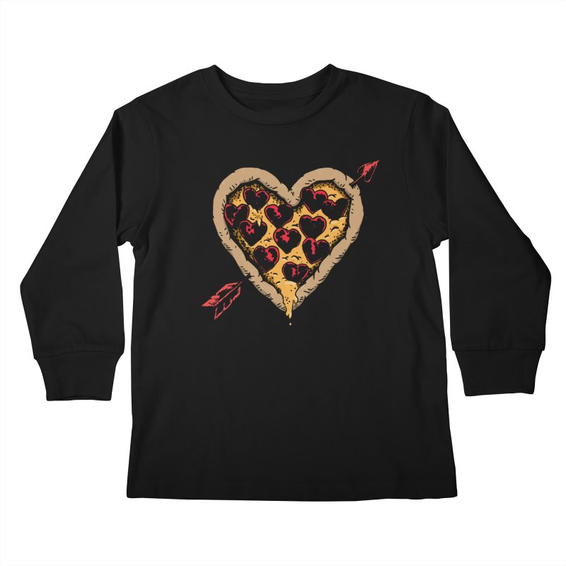 Pizza Love Kids Longsleeve T-Shirt by Iheartjlp