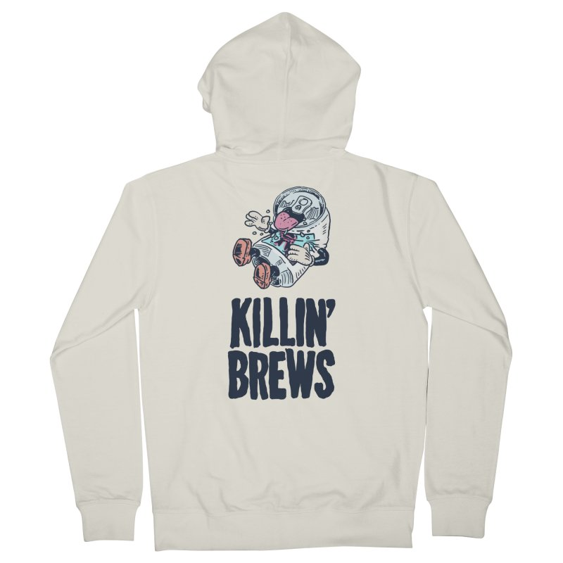 Killin' Brews Men's French Terry Zip-Up Hoody by Iheartjlp