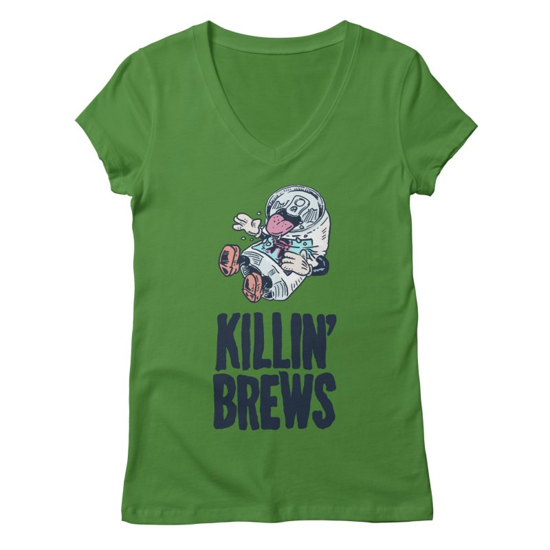 Killin' Brews Women's Regular V-Neck by Iheartjlp