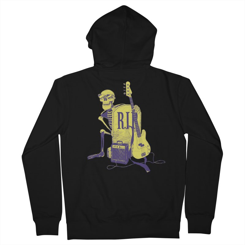 R.I.P. on the Bass Women's French Terry Zip-Up Hoody by Iheartjlp