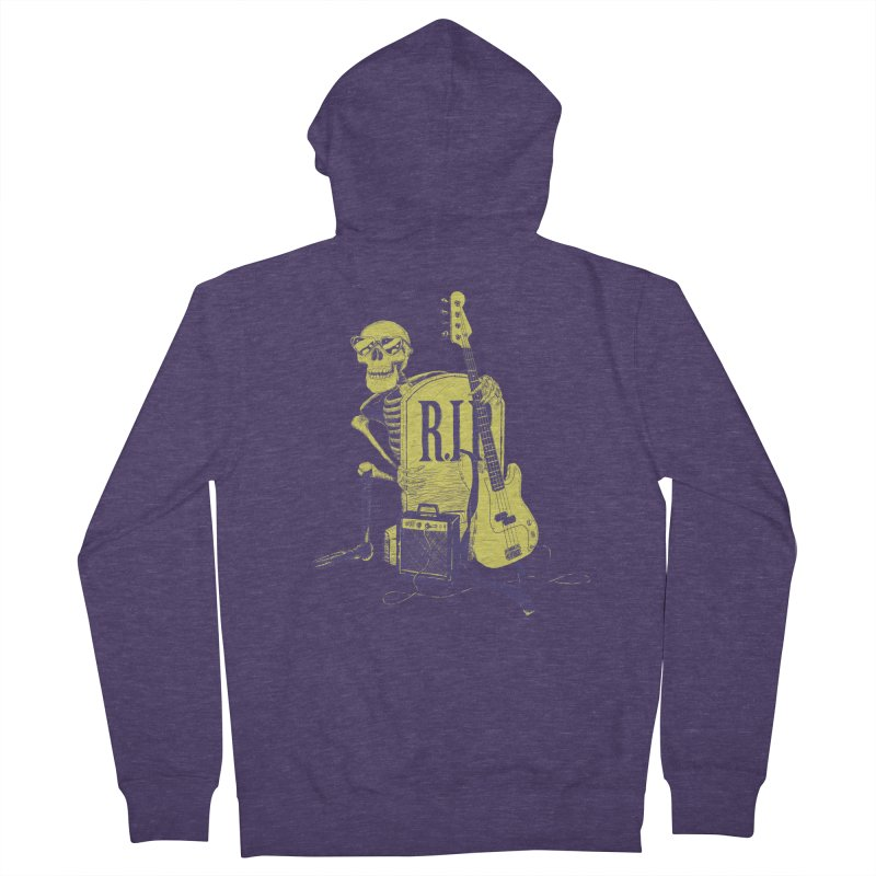 R.I.P. on the Bass Men's Zip-Up Hoody by Iheartjlp