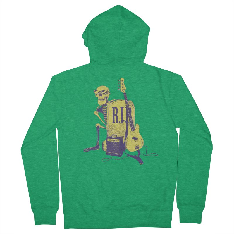 R.I.P. on the Bass Men's French Terry Zip-Up Hoody by Iheartjlp