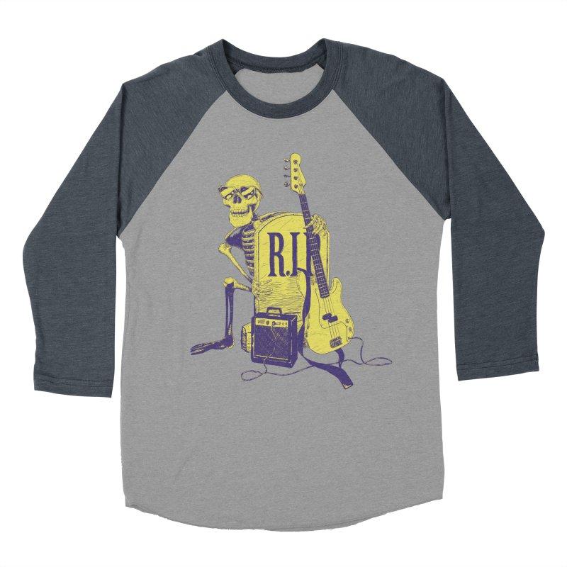 R.I.P. on the Bass Women's Baseball Triblend Longsleeve T-Shirt by Iheartjlp