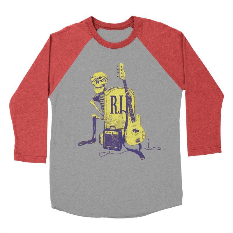 R.I.P. on the Bass Men's Baseball Triblend Longsleeve T-Shirt by Iheartjlp