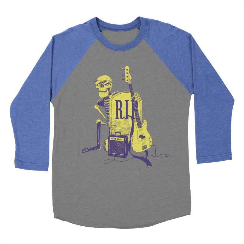 R.I.P. on the Bass Men's Baseball Triblend Longsleeve T-Shirt by Iheartjlp