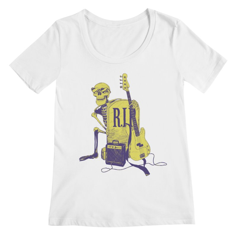 R.I.P. on the Bass Women's Regular Scoop Neck by Iheartjlp