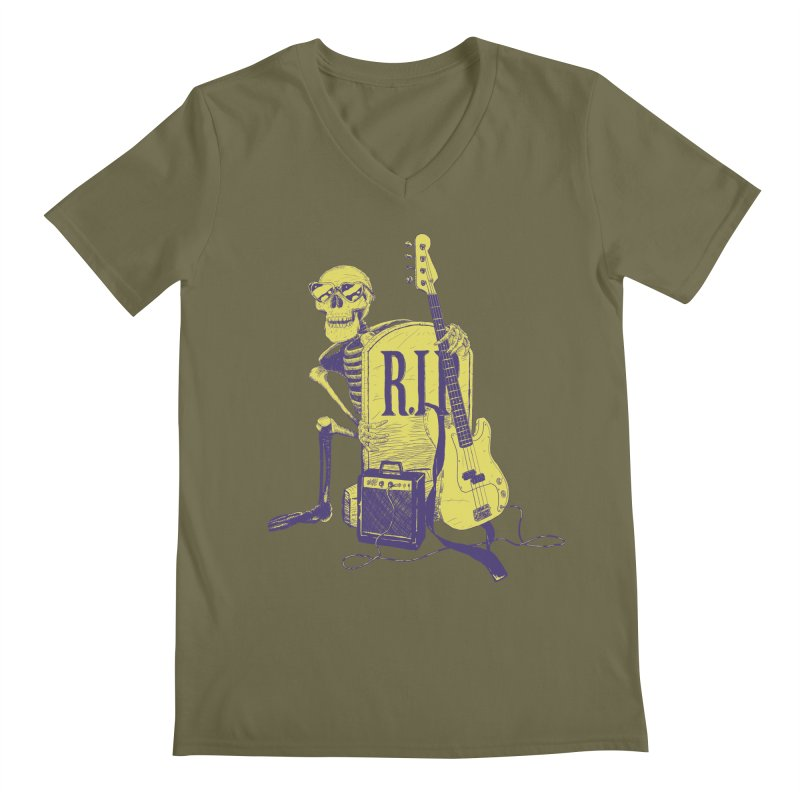 R.I.P. on the Bass Men's V-Neck by Iheartjlp