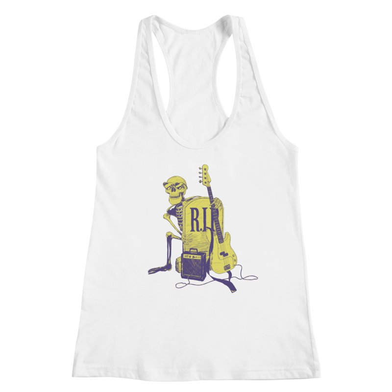R.I.P. on the Bass Women's Racerback Tank by Iheartjlp