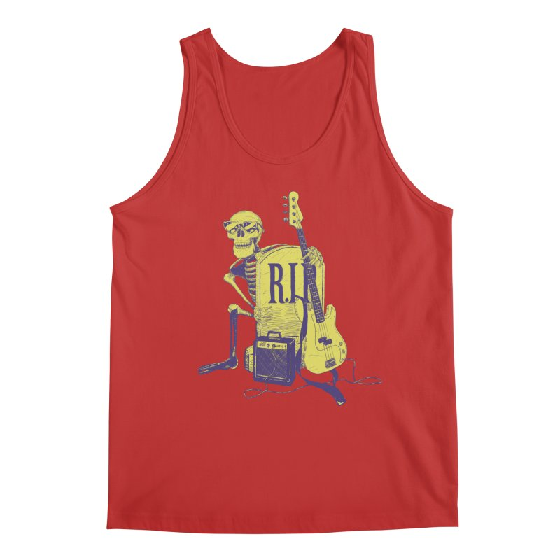 R.I.P. on the Bass Men's Regular Tank by Iheartjlp