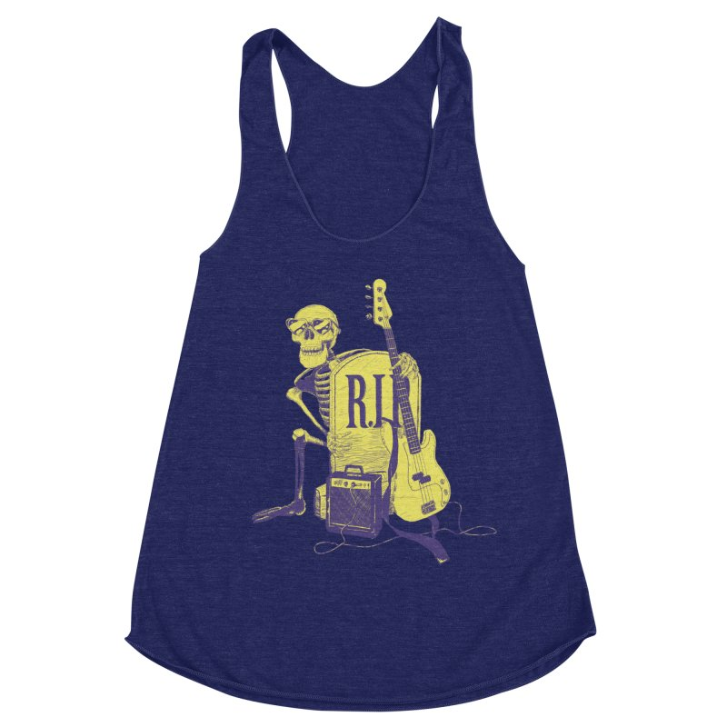 R.I.P. on the Bass Women's Racerback Triblend Tank by Iheartjlp
