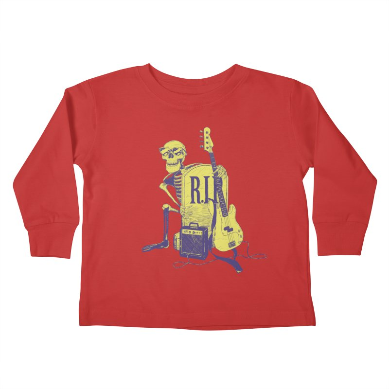 R.I.P. on the Bass Kids Toddler Longsleeve T-Shirt by Iheartjlp