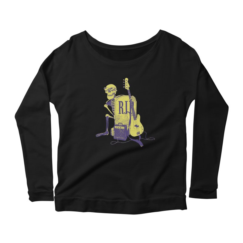 R.I.P. on the Bass Women's Scoop Neck Longsleeve T-Shirt by Iheartjlp