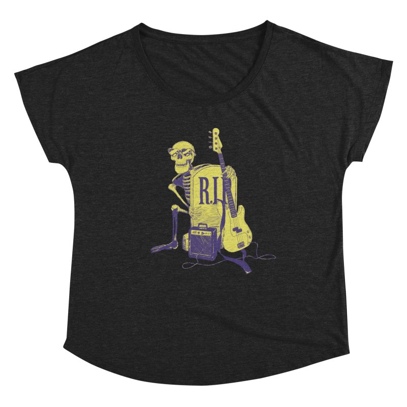 R.I.P. on the Bass Women's Dolman Scoop Neck by Iheartjlp