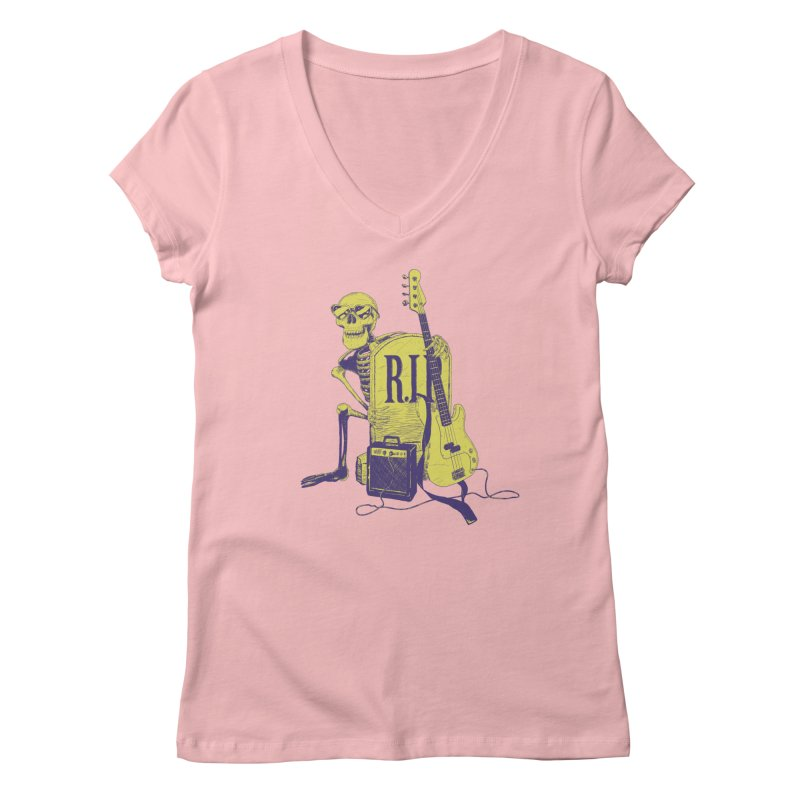 R.I.P. on the Bass Women's V-Neck by Iheartjlp
