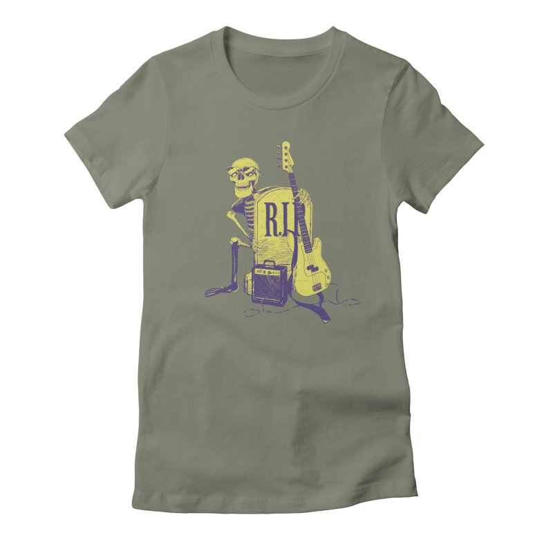 R.I.P. on the Bass Women's Fitted T-Shirt by Iheartjlp