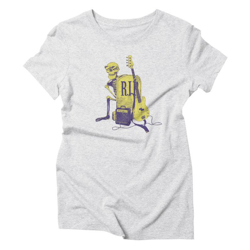 R.I.P. on the Bass Women's Triblend T-Shirt by Iheartjlp