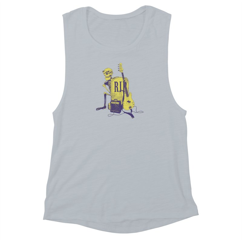 R.I.P. on the Bass Women's Muscle Tank by Iheartjlp