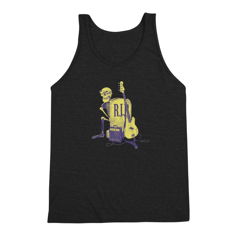 R.I.P. on the Bass Men's Triblend Tank by Iheartjlp