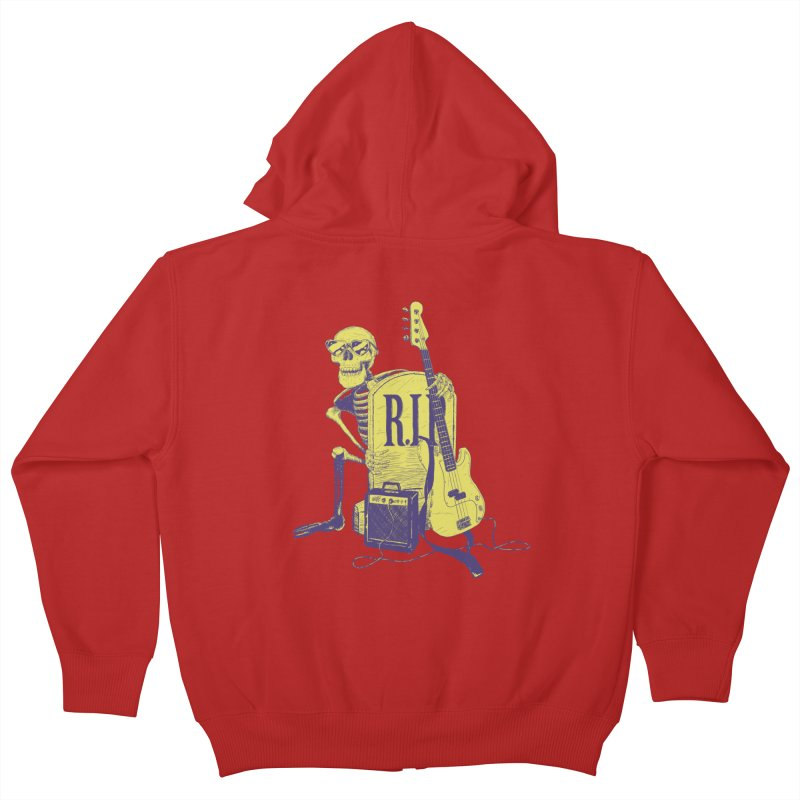 R.I.P. on the Bass Kids Zip-Up Hoody by Iheartjlp