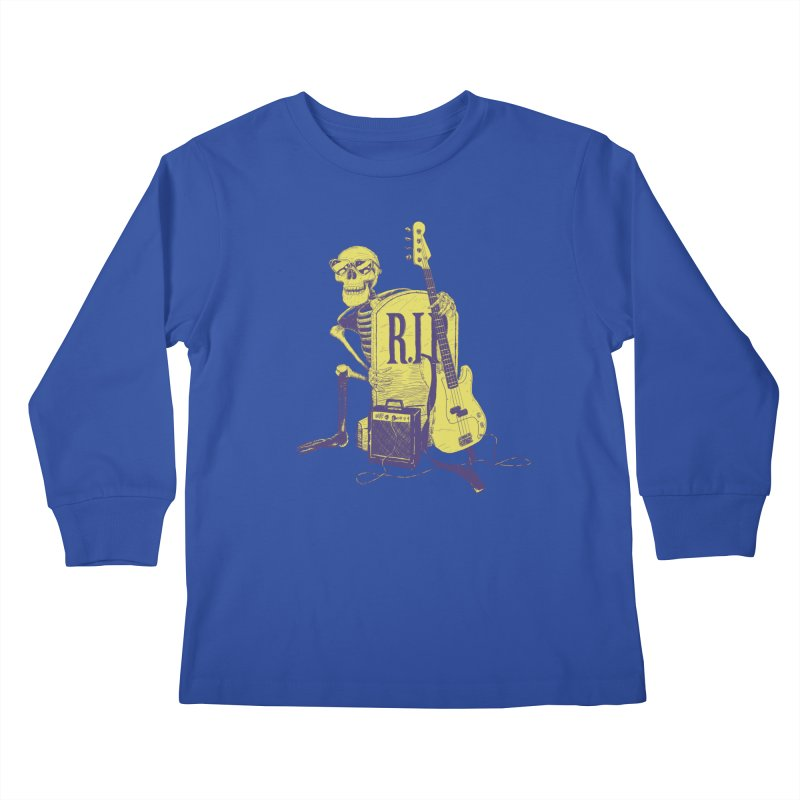 R.I.P. on the Bass Kids Longsleeve T-Shirt by Iheartjlp