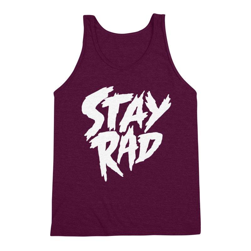 Stay Rad Men's Triblend Tank by Iheartjlp