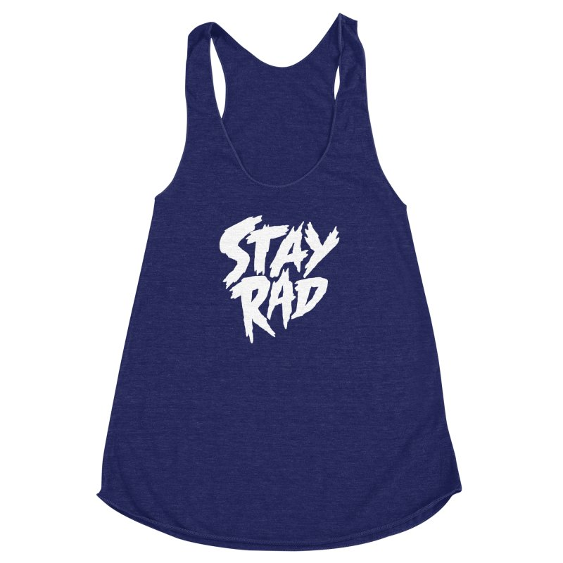 Stay Rad Women's Racerback Triblend Tank by Iheartjlp