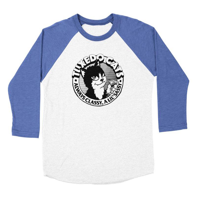 Tuxedo Cats Women's Baseball Triblend Longsleeve T-Shirt by Iheartjlp