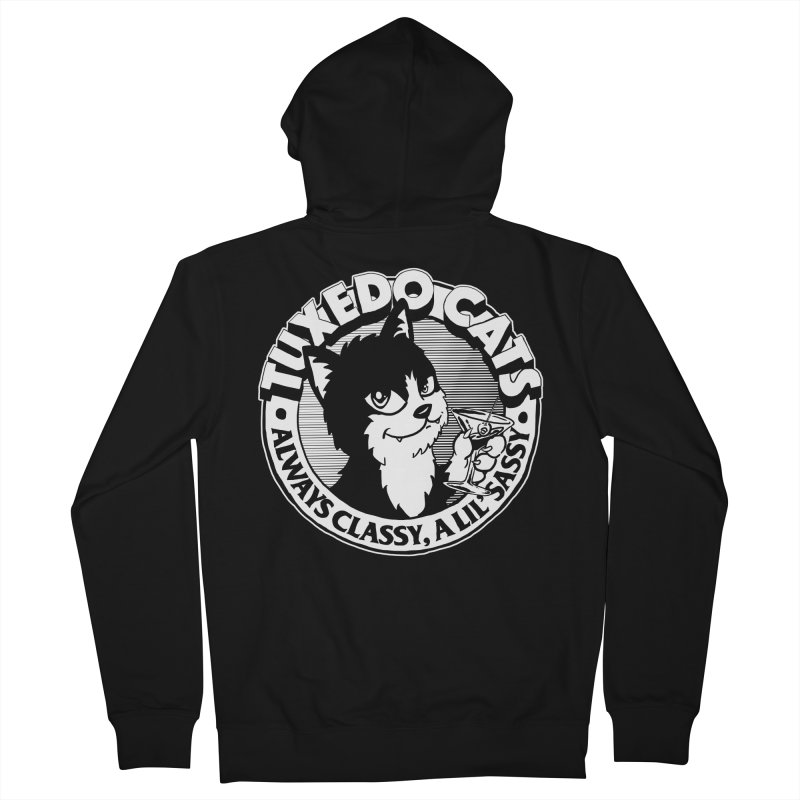 Tuxedo Cats Men's French Terry Zip-Up Hoody by Iheartjlp