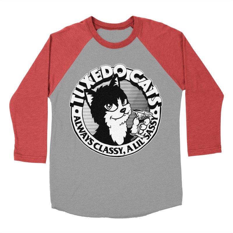 Tuxedo Cats Women's Baseball Triblend T-Shirt by Iheartjlp
