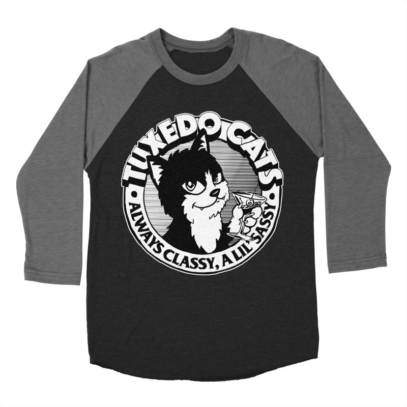 Tuxedo Cats Men's Baseball Triblend Longsleeve T-Shirt by Iheartjlp