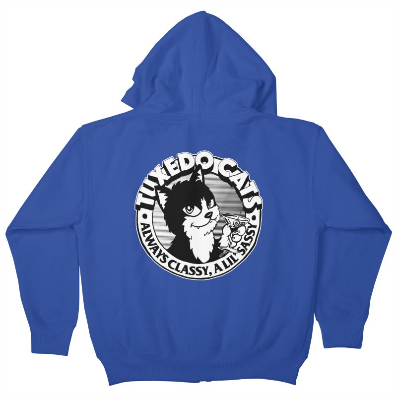 Tuxedo Cats Kids Zip-Up Hoody by Iheartjlp
