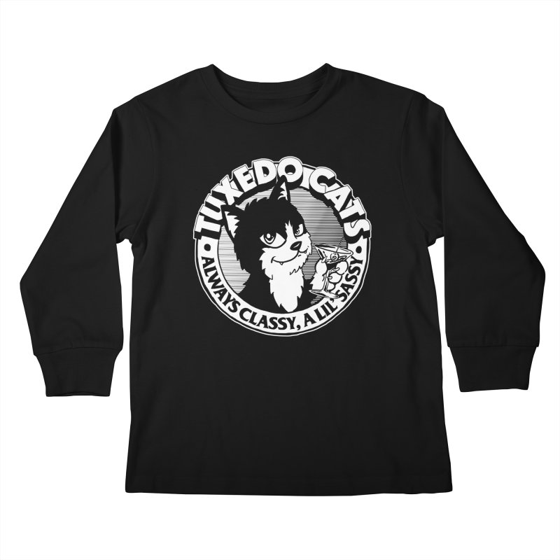 Tuxedo Cats Kids Longsleeve T-Shirt by Iheartjlp