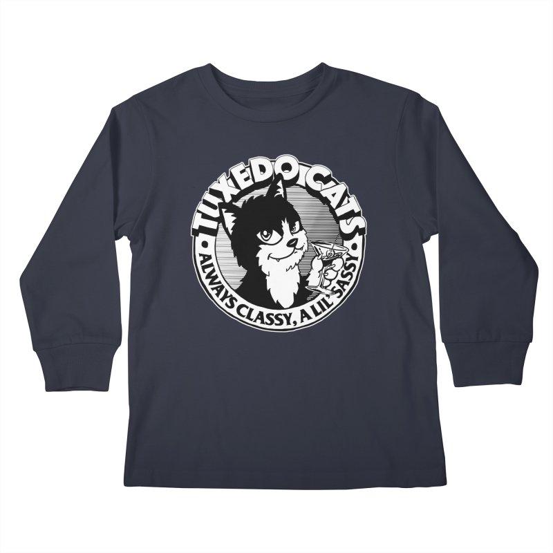 Tuxedo Cats Kids Longsleeve T-Shirt by Iheartjlp