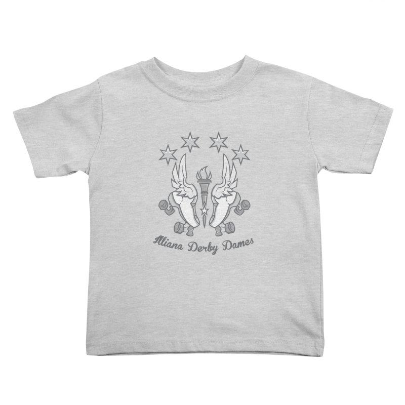 IDD logo Kids Toddler T-Shirt by Illiana Derby Dames's Team Merch Shop