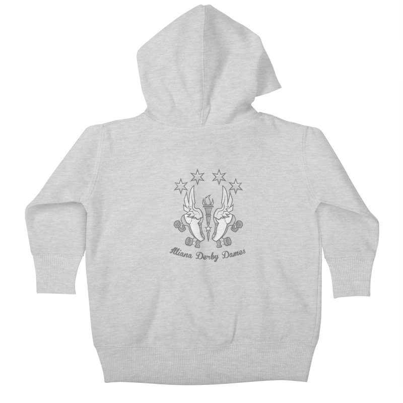 IDD logo Kids Baby Zip-Up Hoody by Illiana Derby Dames's Team Merch Shop