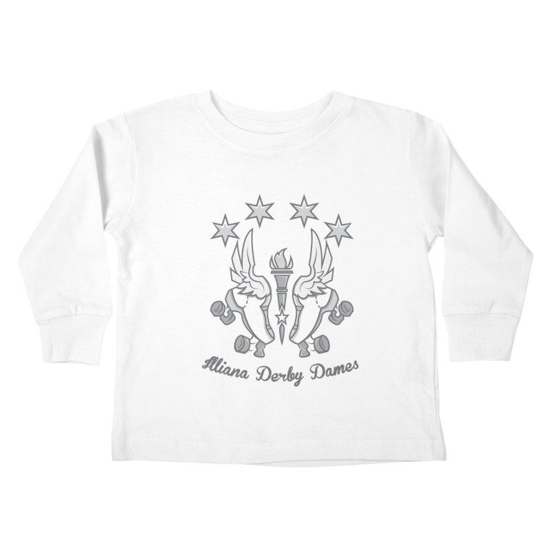 IDD logo Kids Toddler Longsleeve T-Shirt by Illiana Derby Dames's Team Merch Shop
