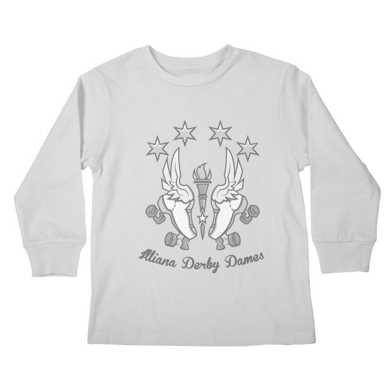 IDD logo Kids Longsleeve T-Shirt by Illiana Derby Dames's Team Merch Shop
