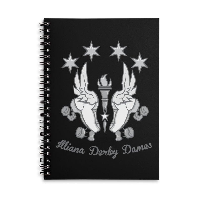 IDD logo Accessories Lined Spiral Notebook by Illiana Derby Dames's Team Merch Shop