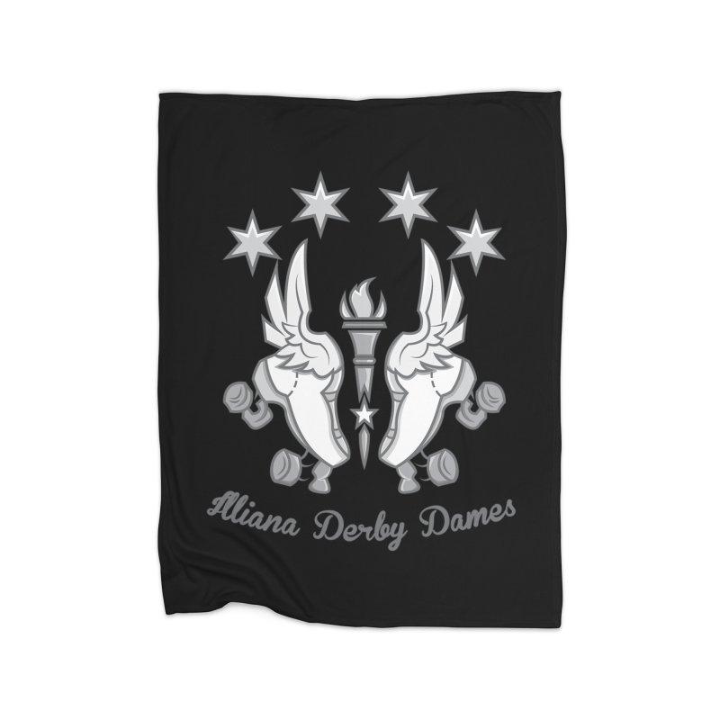 IDD logo Home Blanket by Illiana Derby Dames's Team Merch Shop