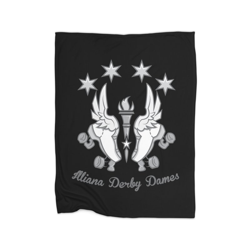IDD logo Home Fleece Blanket Blanket by Illiana Derby Dames's Team Merch Shop